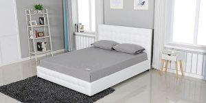 מיטה זוגית דמוי עור דגם גרייס