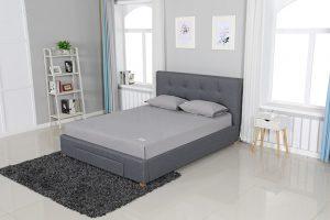 מיטה זוגית מרופדת בד דגם הלן