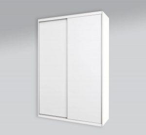ארון הזזה 2 דלתות לבן חלק